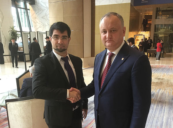 Meeting with the President of Moldova